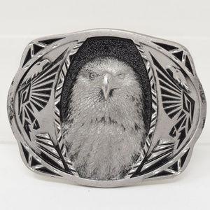 C & J Eagle Belt Buckle Western Vintage Cowboy